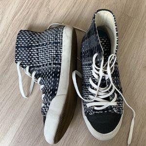 SeaVees Checked Print High Top Sneakers